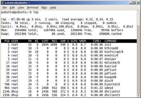 Top = uptime + load average + procesos ...