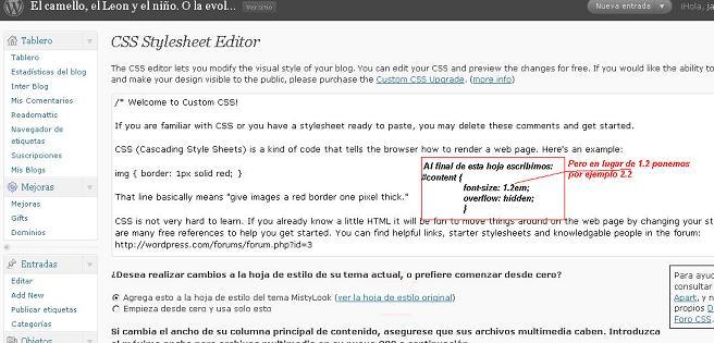 Cambiar tamaño de letra en tema Black-LetterHead – Edición CSS ...