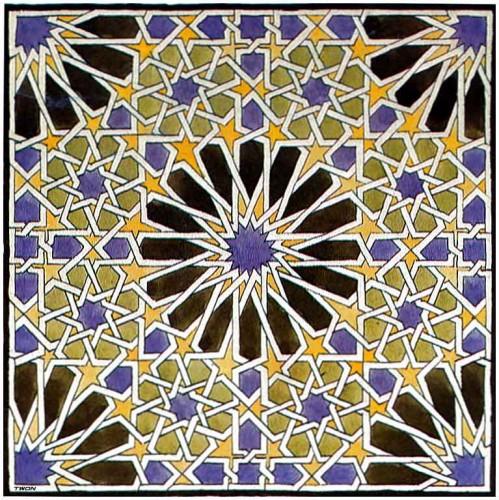 Simetr as ocultas en lacer as de la alhambra juegos topol gicos - Azulejos colorines ...